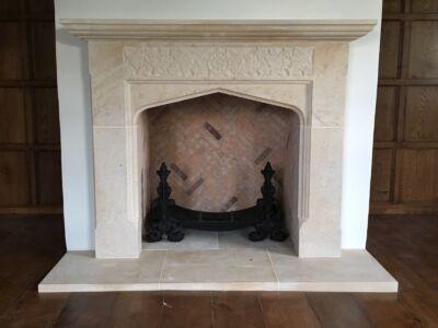 Ornate Stone Fireplace Surround