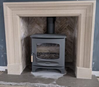 Carved Stone Fireplace Surround