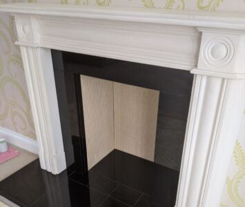 Fireplace Surround in Statuary Marble