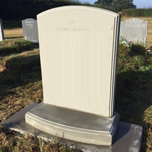 Bespoke Headstone example